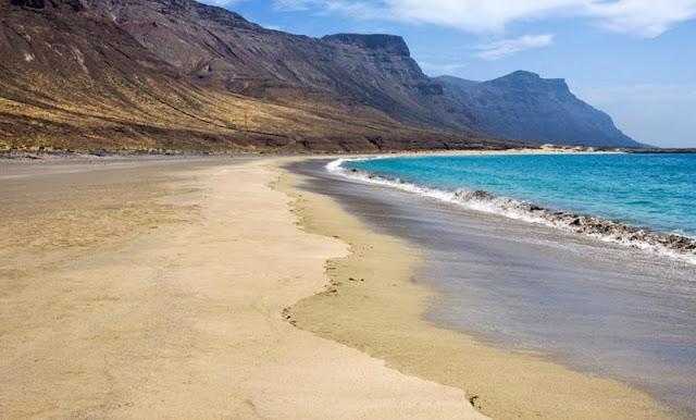 Playa de Famara em Lanzarote