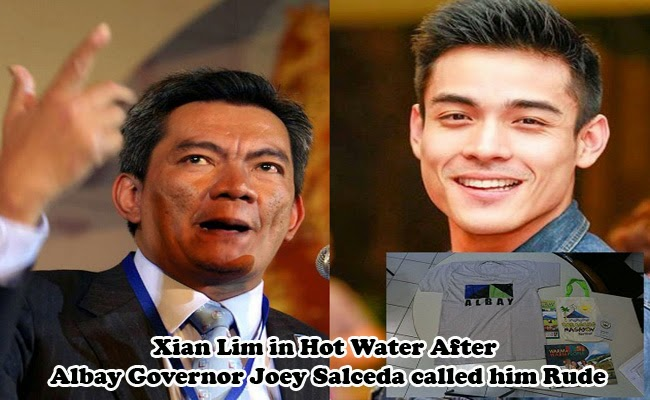 Xian Lim in Hot Water After Albay Governor Joey Salceda called him Rude