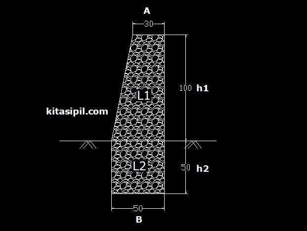 cara menghitung volume pasangan batu