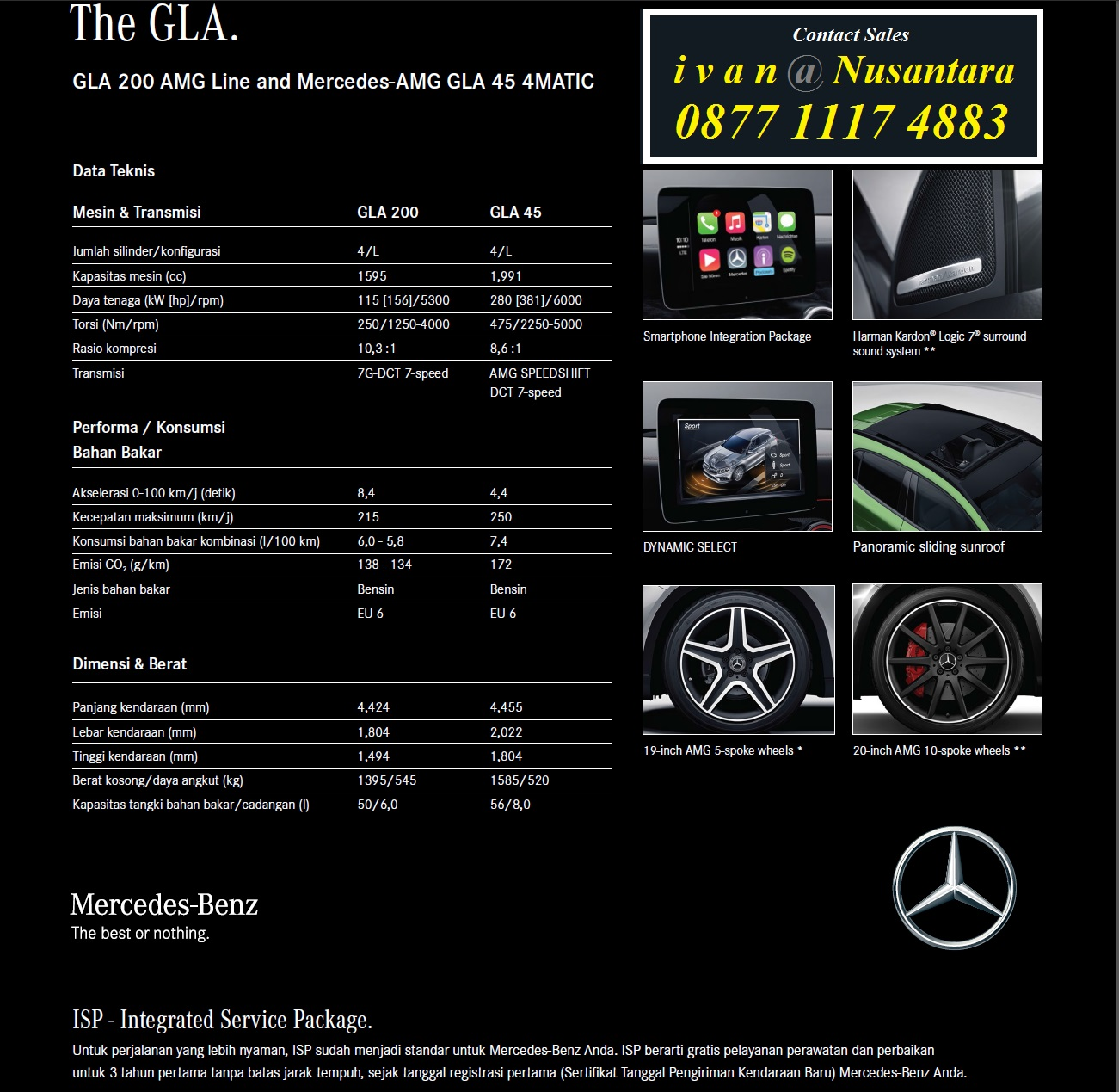 Spesifikasi mercedes benz gla 200 gla 200 amg 2017 for Mercedes benz service b coupons 2017