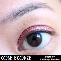 Jesse's Girl Cosmetics - Fluid Shadows - Rose Bronze | Kat Stays Polished