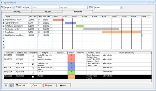 Idra the agency idra software feature design manager - Interior design schedule template ...