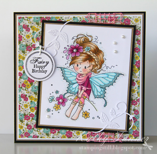 iris, sylvia zet, whimsy, copics, fairy, vines die, cambridge court, MME, magicial mini letter seals