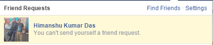 How to Send Friend Request to Own Facebook Profile