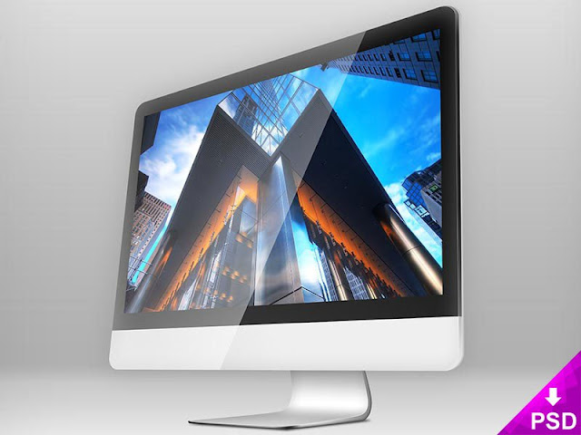 Apple iMac Mockup PSD