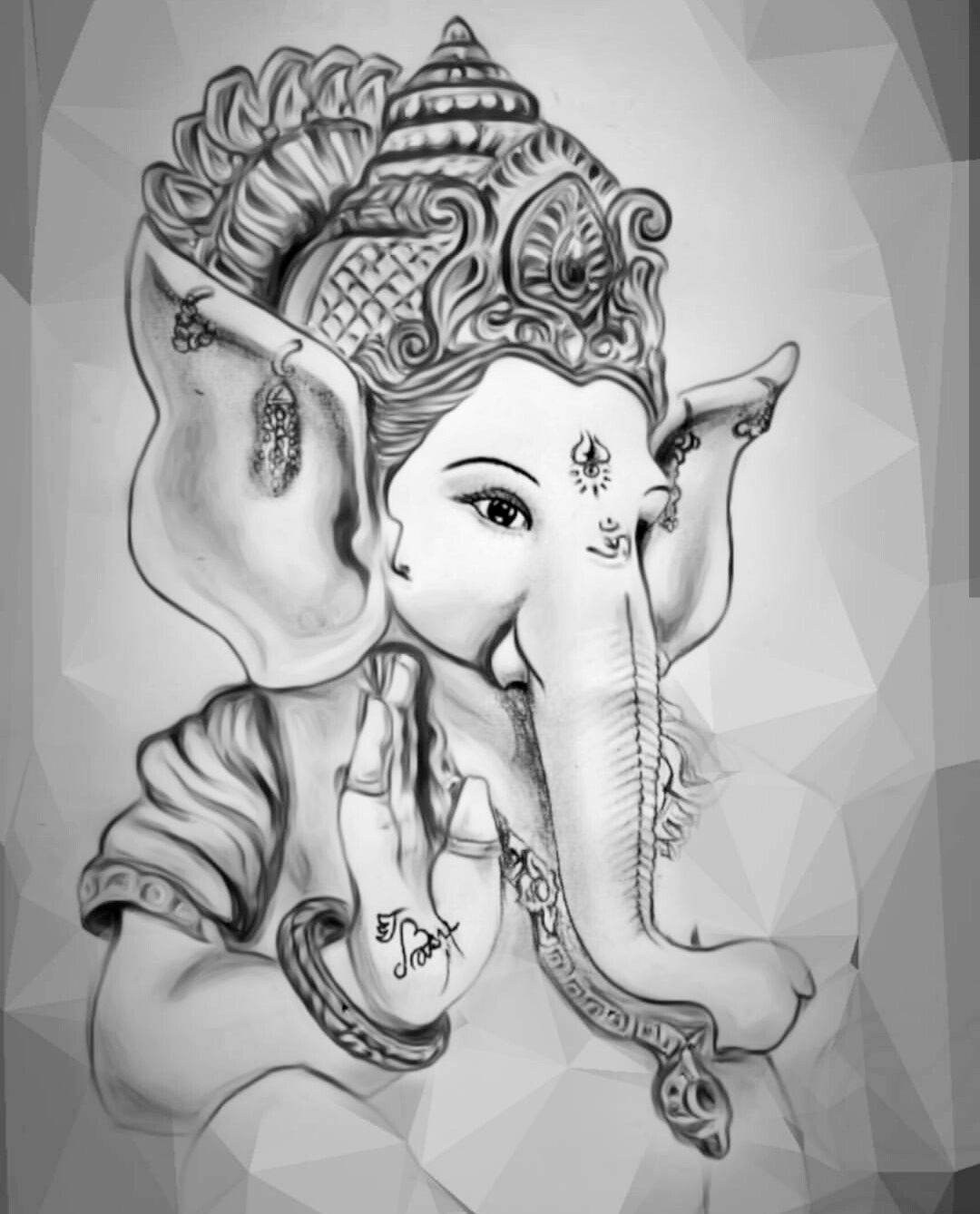 Shri ganesha pencil sketch