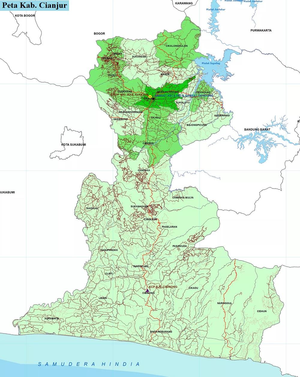 Peta Kabupaten Cianjur