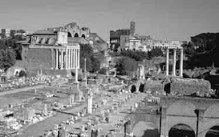 Reruntuhan Bangunan Forum pada Masa Republik di Romawi