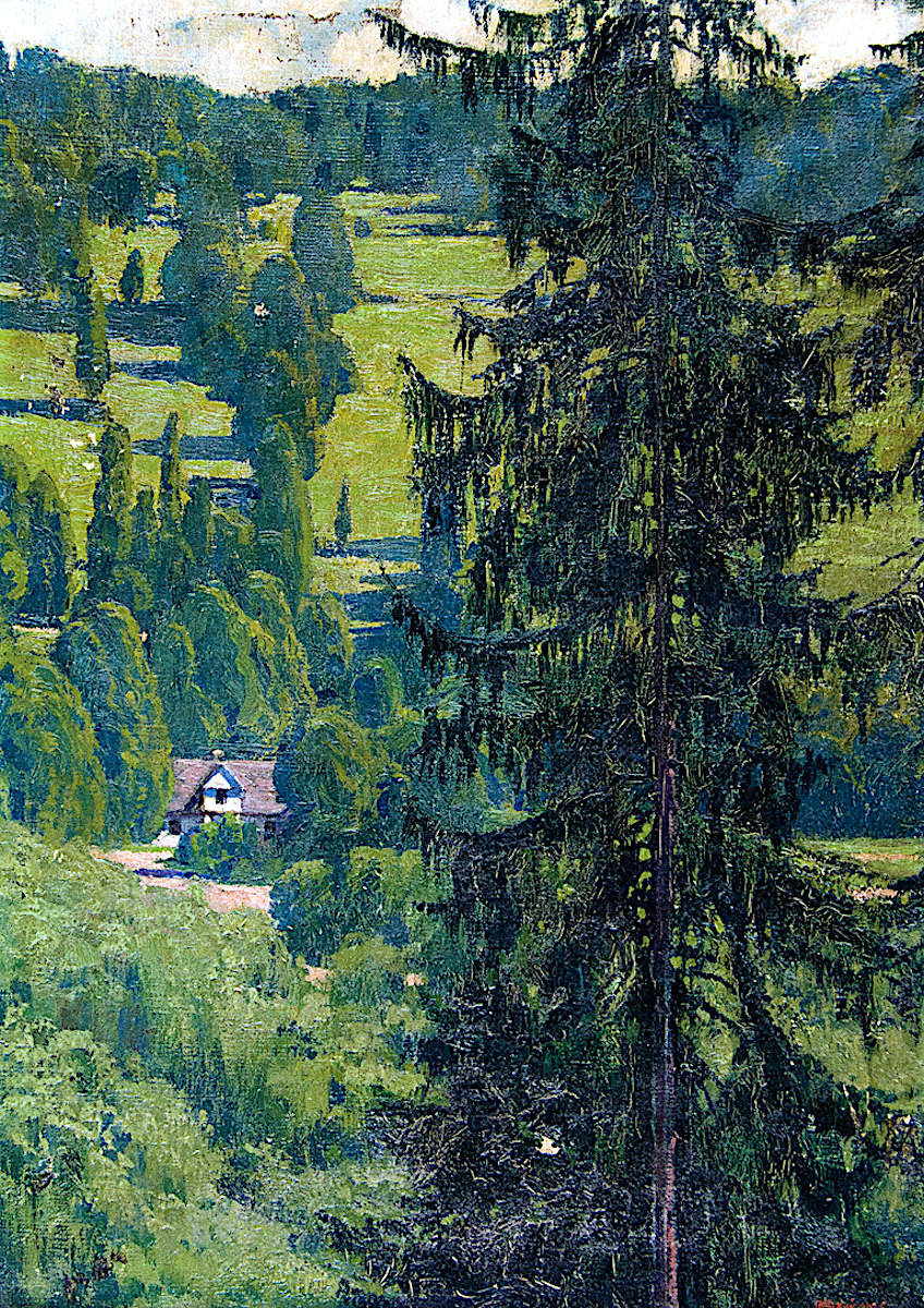 Edward Okun, a giant tall tree in color