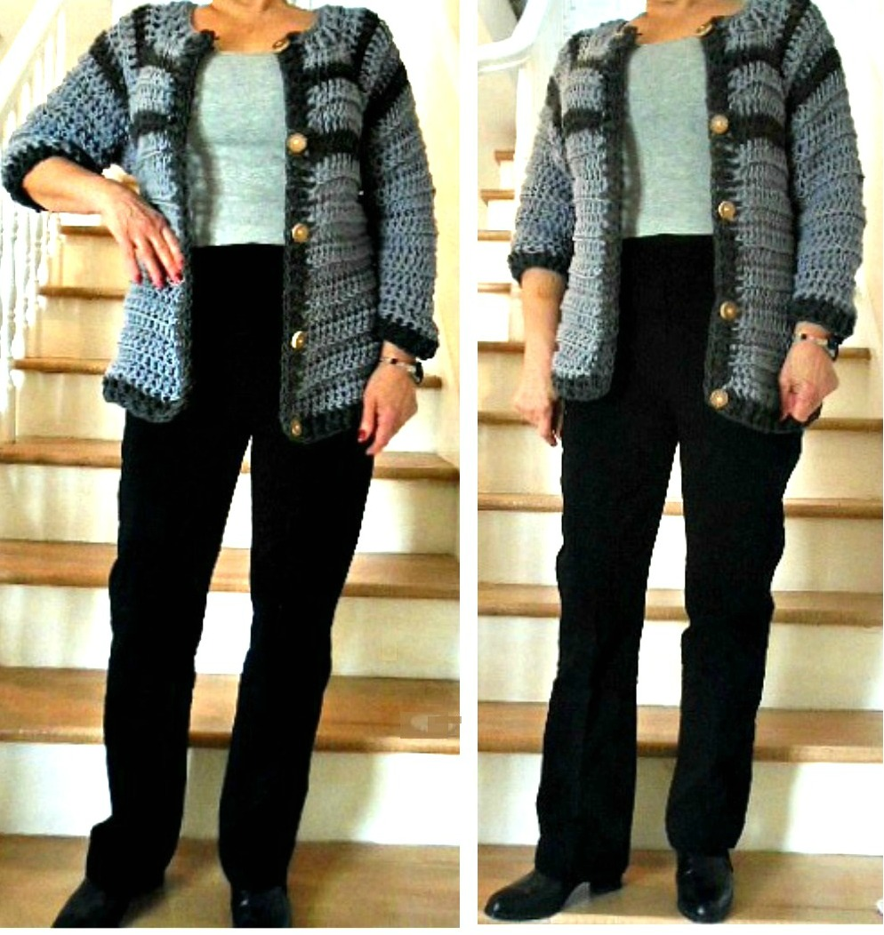 1e33dd79e HECTANOOGA PATTERNS  FREE CROCHET PATTERN - Women s Cardigan Sweater ...