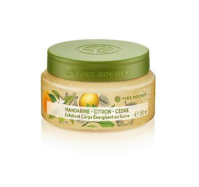 Exfoliante Corporal ENERGÍA Mandarina, Limón & Cedro línea Plaisirs Nature Yves Rocher