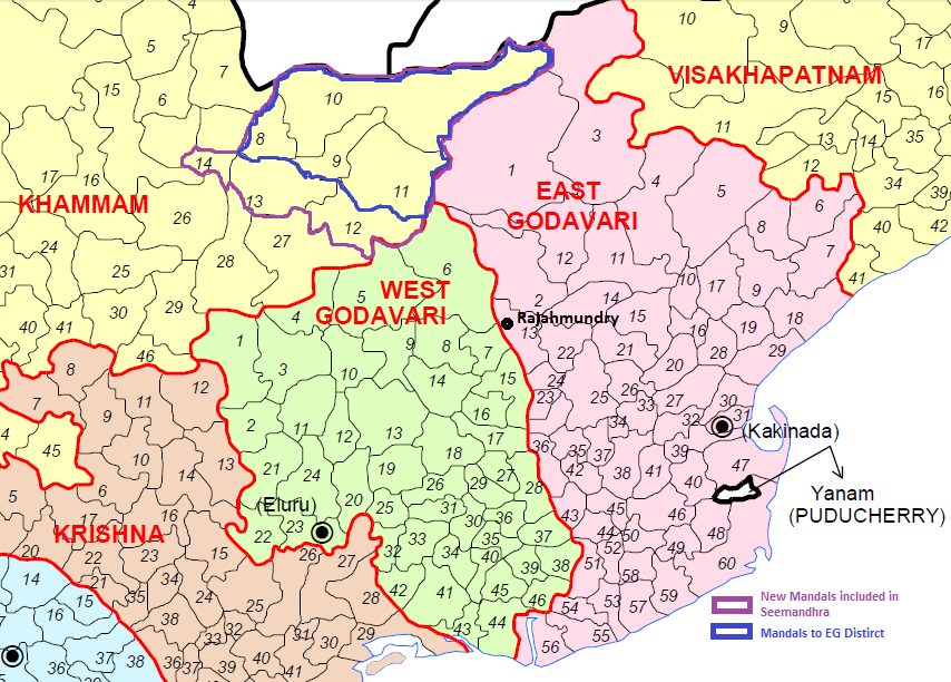 Greater rajahmundry maps east and west godavari revenue mandals thecheapjerseys Images