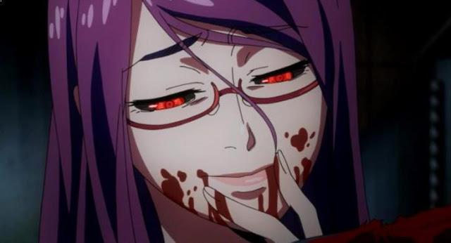 Rize Kamishiro (Tokyo Ghoul) - Karakter Anime Perempuan Paling Rakus dan Cantik
