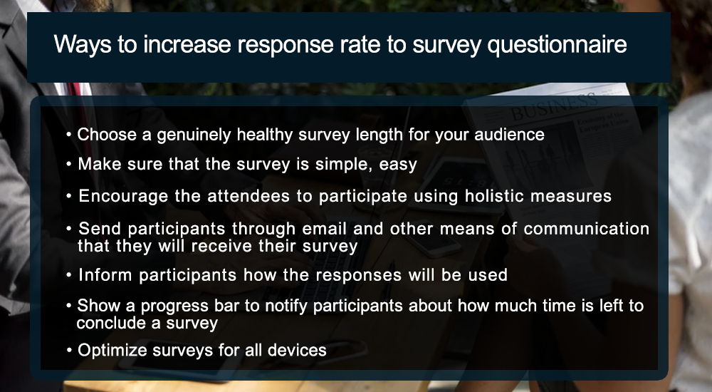 Ways to increase response rate to survey questionnaire