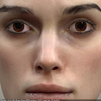3d model Keira Knightley head