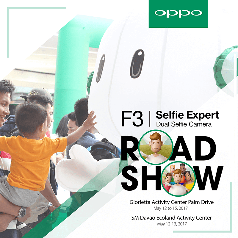 OPPO F3 Makati And Davao Roadshow Announced