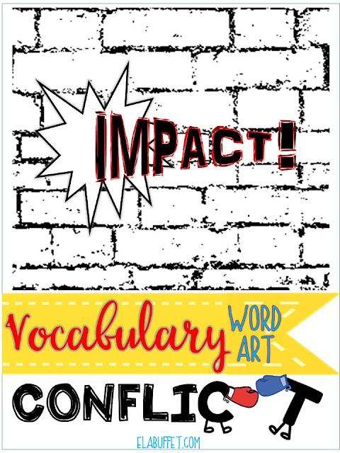 Create Word Art for Vocabulary Acquisition:  Encourage each student to choose a word and then create a visual representation of the meaning of the word. They might even create it using the letters of the word.