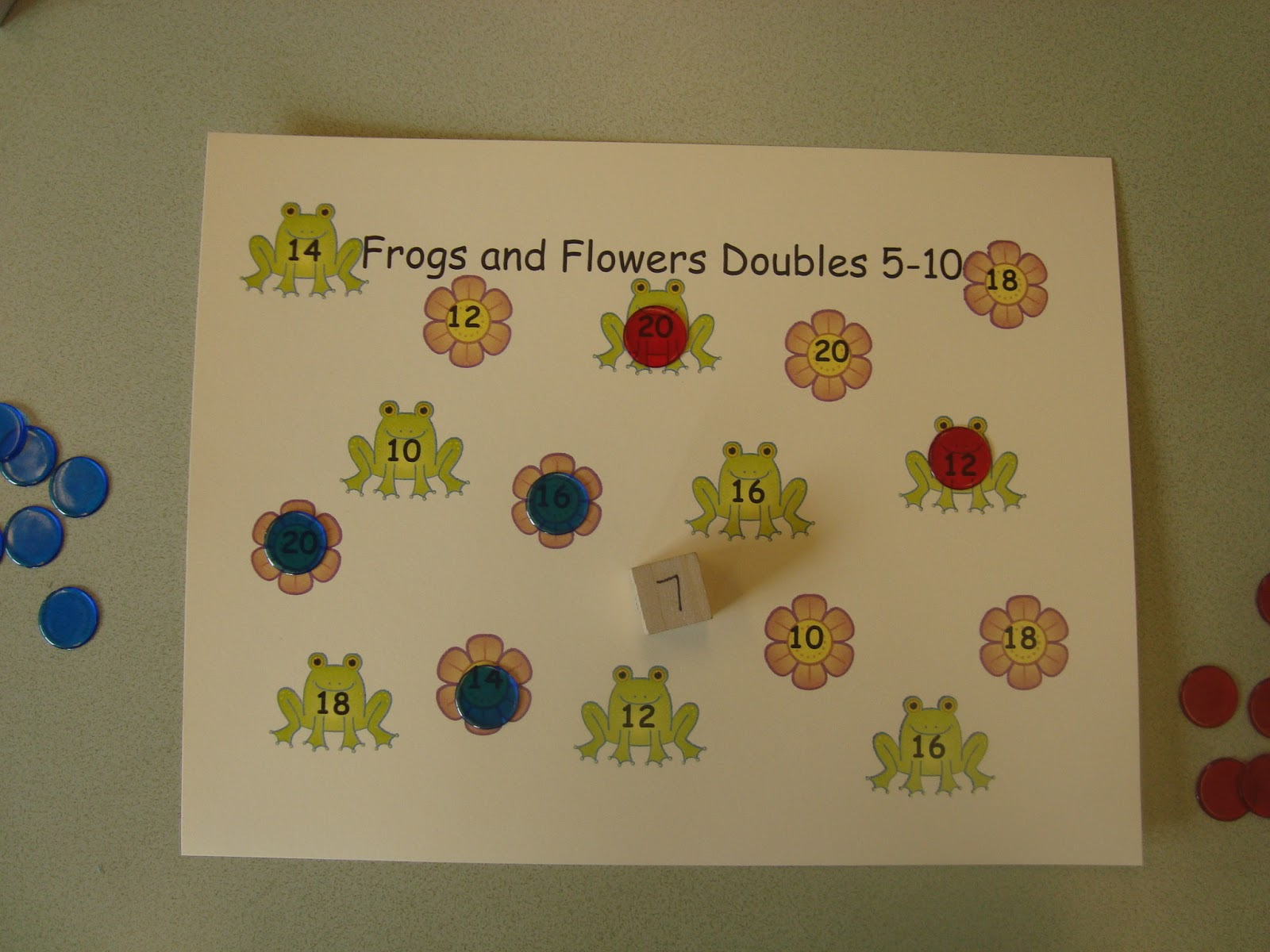 The Elementary Math Maniac Frogs And Flowers Addition