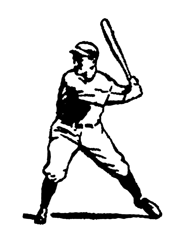 Digital Stamp Design Vintage Stock Sports Clip Art Illustrations