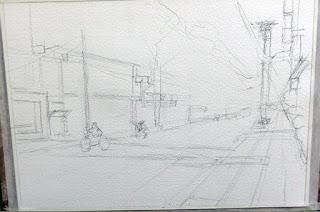 ベトナムの街角 1 スケッチ