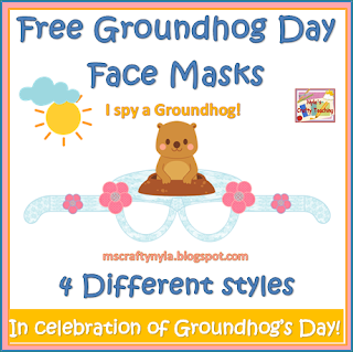 http://www.teacherspayteachers.com/Product/Free-Groundhog-Day-Face-Masks