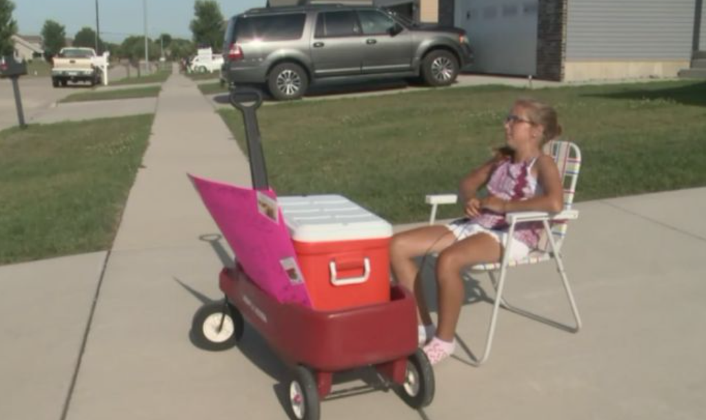 Neighbours call police on young girl selling cookies