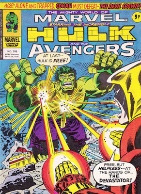 Mighty World of Marvel #209, Hulk vs Devastator
