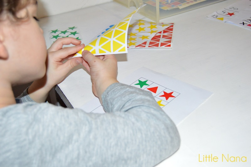 recurso educativo motricidad fina coordinación gomets
