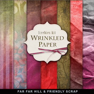 Freebies Background Kit - Wrinkled Paper