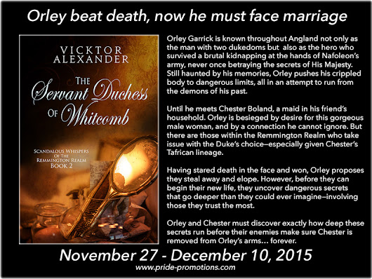 The Servant Duchess of Whitcomb by Vicktor Bailey Tour & Giveaway !!