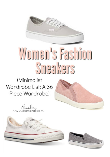 Women's Fashion Sneakers (Minimalist Wardrobe List: A 36 Piece Wardrobe)