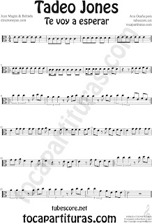 Partitura de Tadeo Jones en Clave de  Do para Viola y otros instrumentos en Clave de Do en 3º Línea Sheet Music for Viola in C Clef Music Scores by Juan Magan & Belinda
