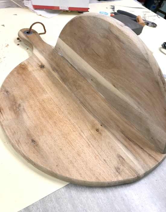 folded round cutting board
