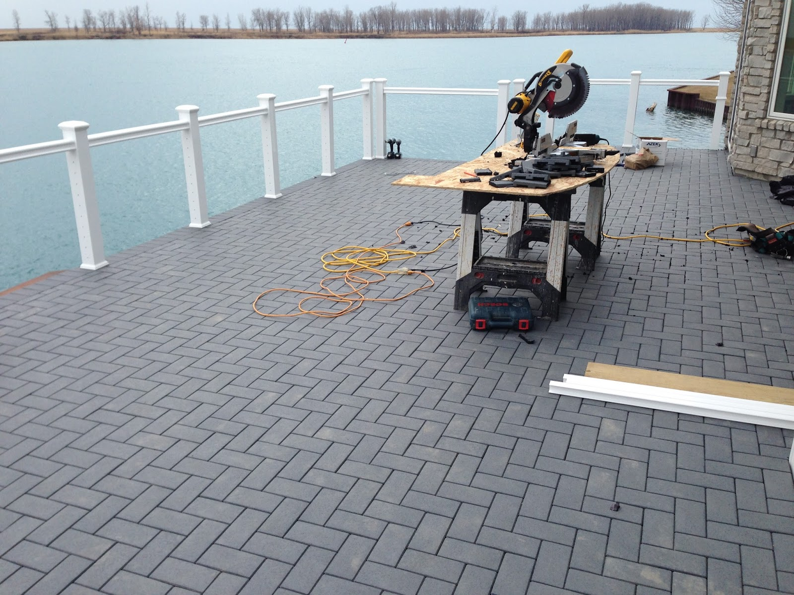 Outdoor Living Low Sloped Roof Decks Composite Pavers