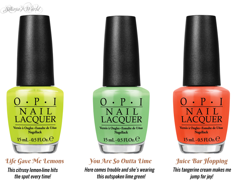 opi neons 2014 life gave me lemons you are so outta lime juice bar hopping