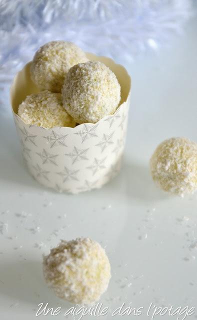 Truffes au chocolat blanc et citron vert