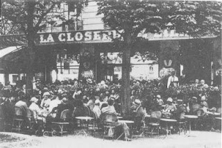 the restaurant la closerie des lilas in the early 20th century, somerset maugham
