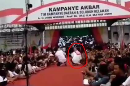 Duh... Video Istri Jokowi Terjungkal Saat Selfie Viral