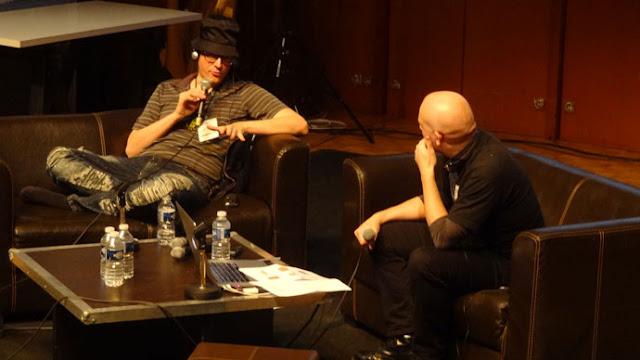 Ed Piskor et Xavier Guilbert au festival d'Angoulême