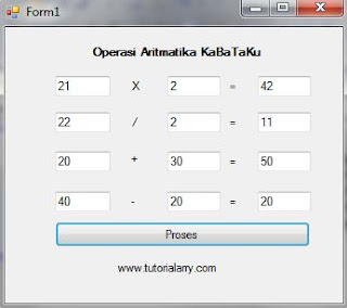 aplikasi aritmatika vbnet