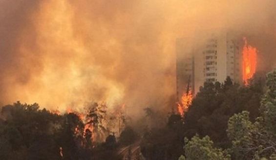 Subhanallah.....Akibat Kebakaran Maha Dasyat , Israel Diselimuti Awan Berbau Busuk
