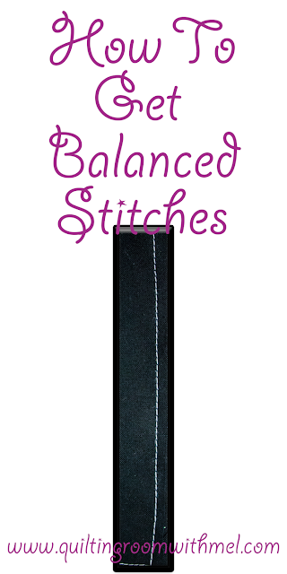 how to get balanced stitches