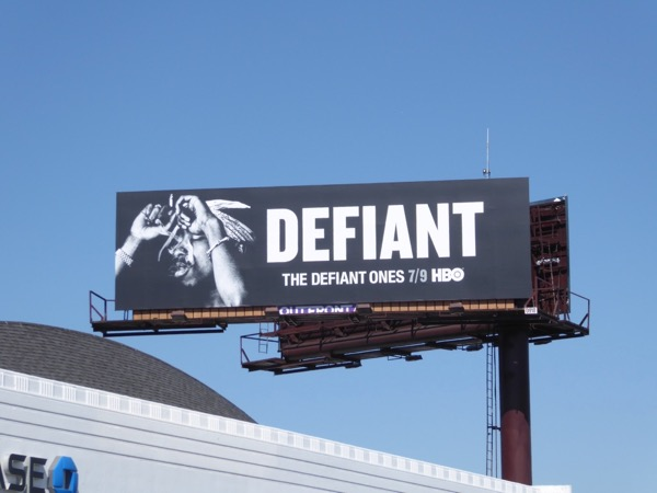 Tupac Defiant Ones billboard