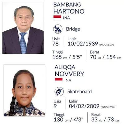 Inilah Atlet Indonesia Termuda dan Tertua di Asian Games 2018