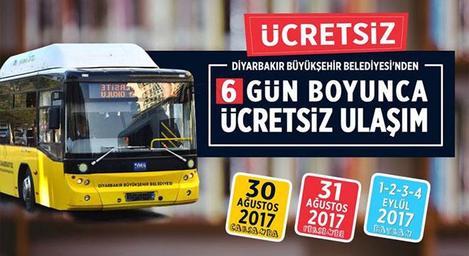 Diyarbakır'da 30 Ağustos'tan 4 Eylül'e kadar ulaşım ücretsiz