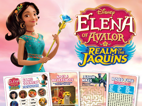 Elena of Avalor: Realm of the Jaquins Now Available on DVD + Free Downloadable Activity Pages