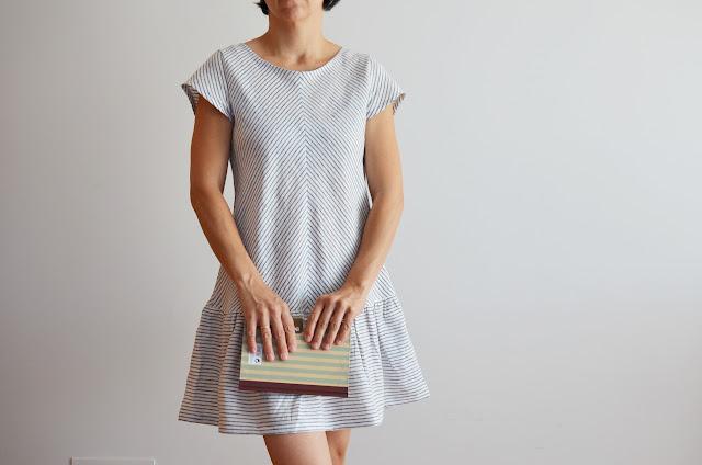 Vestido de rayas chevron