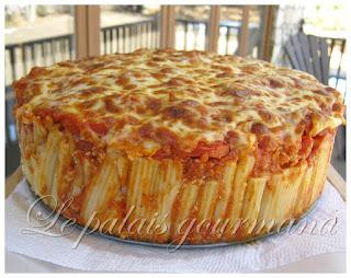 Gâteau de rigatoni au boeuf