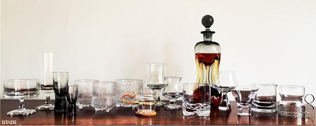 Vintage Scandinavian glassware
