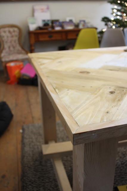 Edging around Table DIY